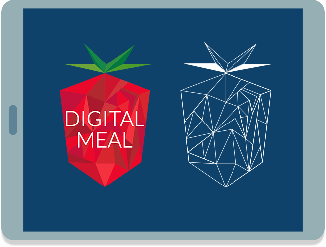 Digital Meal logo on IPAD