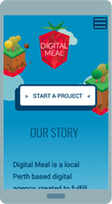 Digital Meal website on IPAD