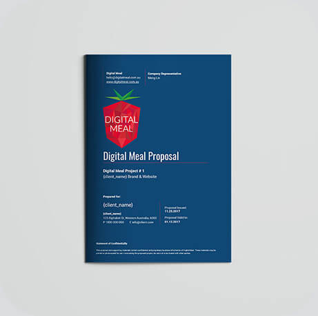 Back of Digital Meal proposal document