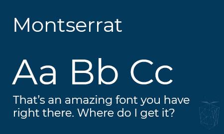 Montserrat Google Web Font