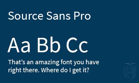 Source Sans Pro Google Web Font