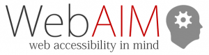 Web accessibility in mind Logo