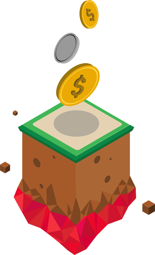 floating coins to represent all the extra revenue you get from CRO