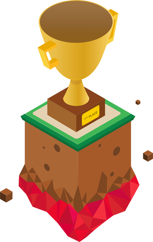 "a trophy that says ""first place"". that could be your trophy"