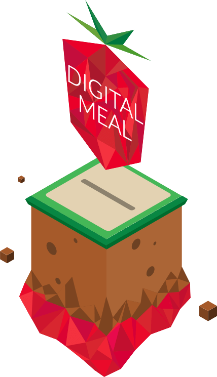a floating Digital Meal logo