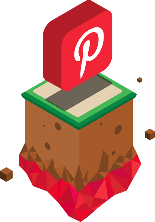 floating pinterest icon