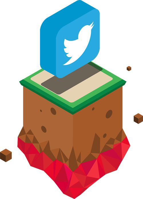 floating Twitter icon
