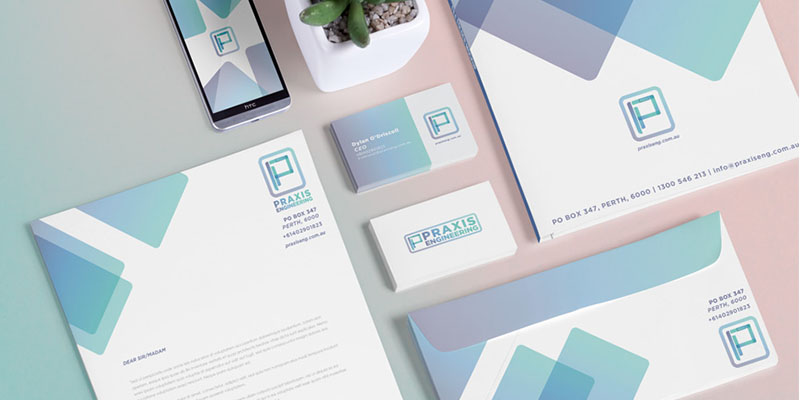 Praxis Engineering Business Stationery