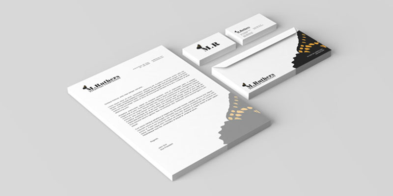 M.Ruthers Financial Consultant Stationery