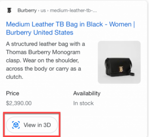 Burberry Brings Products To Google Search Through Augmented Reality