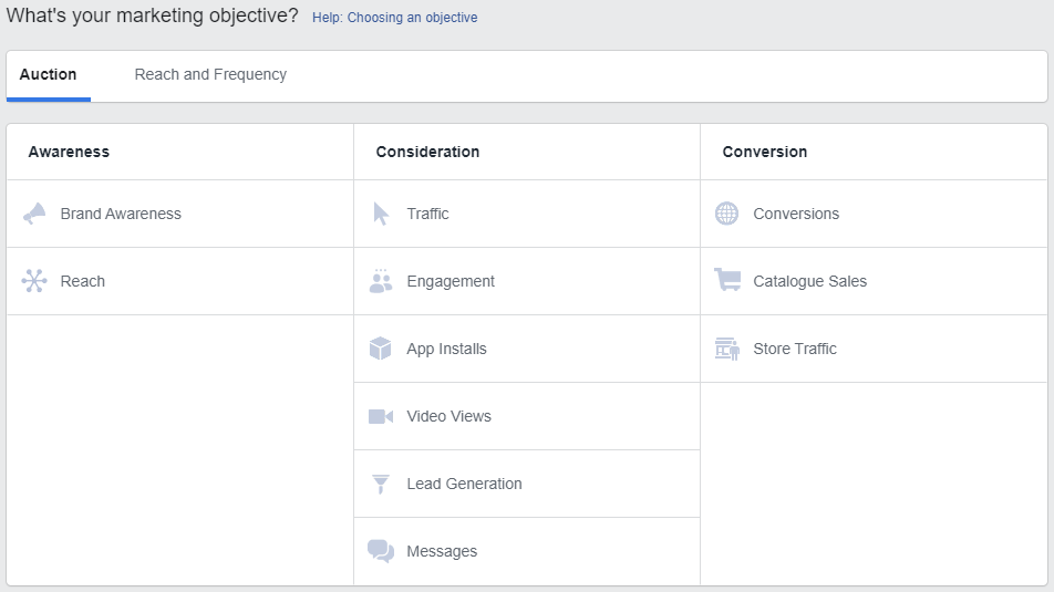 Facebook Campaign Objective Types