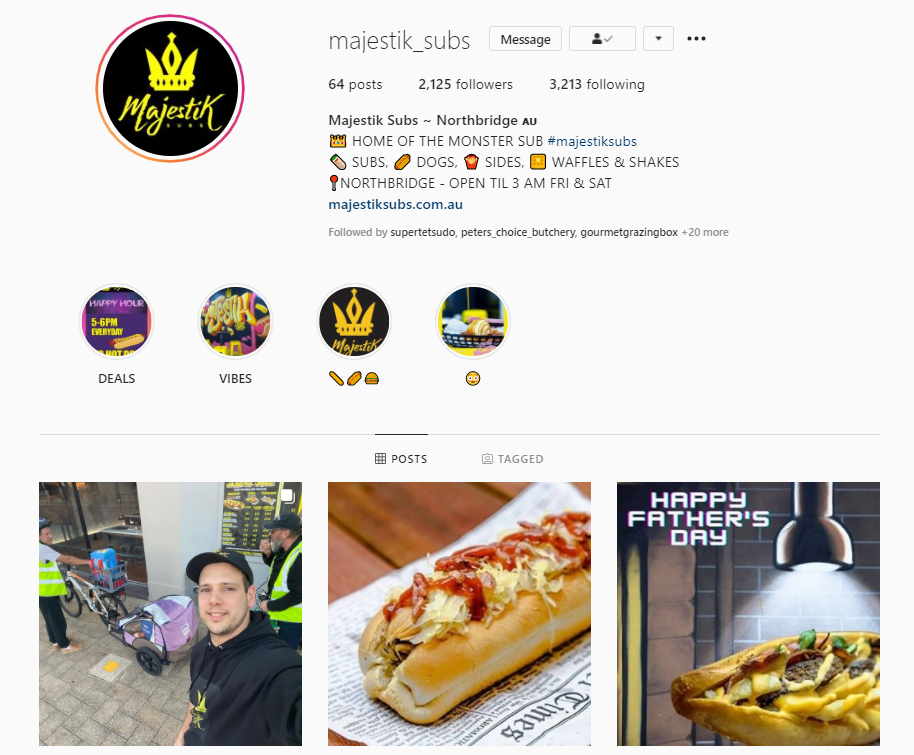 Instagram Profile of Majestik Subs