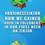 #businesstiktok: How we gained over 1k followers in our first week on TikTok