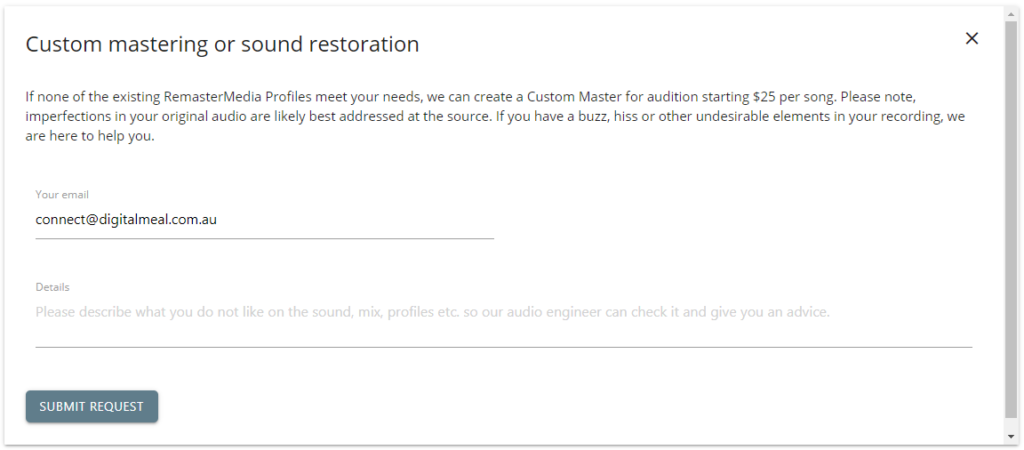 RemasterMedia Custom Mastering
