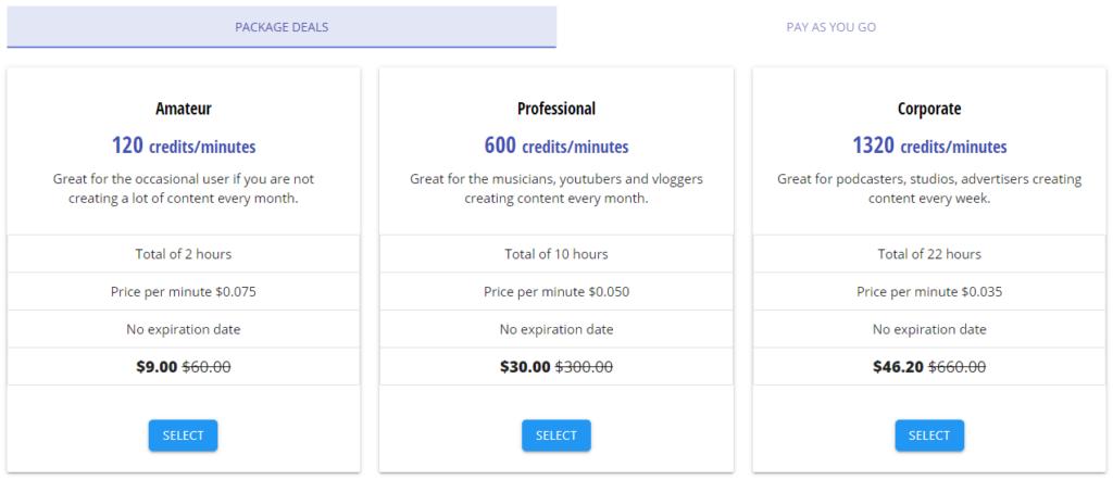 RemasterMedia Pricing
